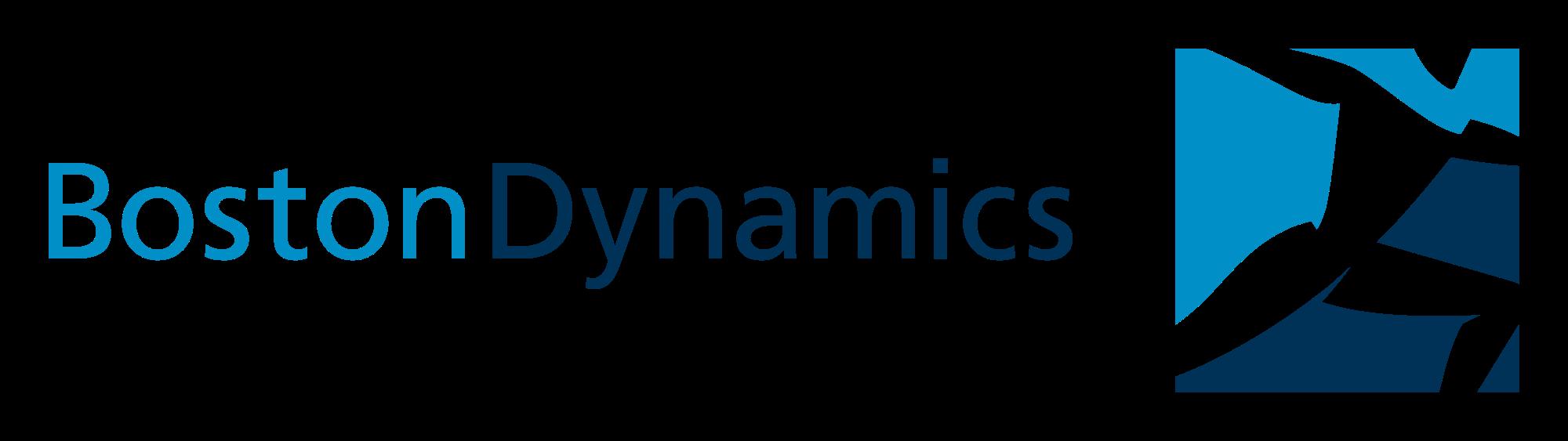 Il logo della Boston Dynamics mostra un robot umanoide